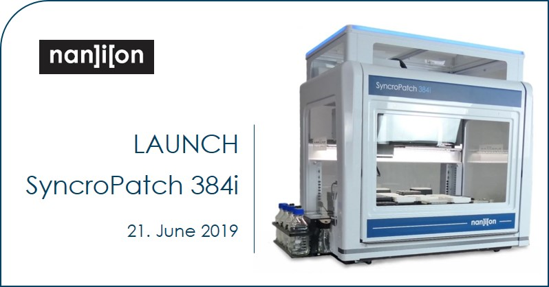 21.06.2019: Launch of SyncroPatch 384i - the next level of automated patch clamp innovation