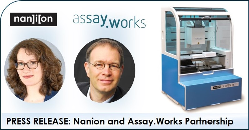 07.11.2019: Press Release, Nanion and Assay.Works Partnership