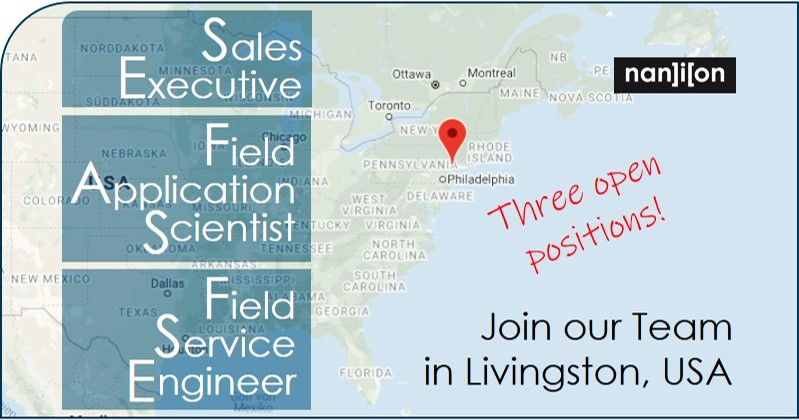 24.01.2020: Three open positions - Nanion Livingston USA