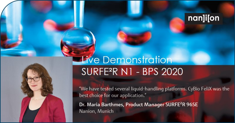 10.02.2020: SURFE²R N1 Live Demonstration at Biophysics 2020