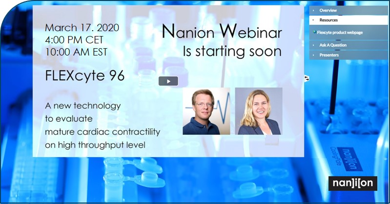 07.02.2020: Webinar announcement (March 17.): FLEXcyte 96