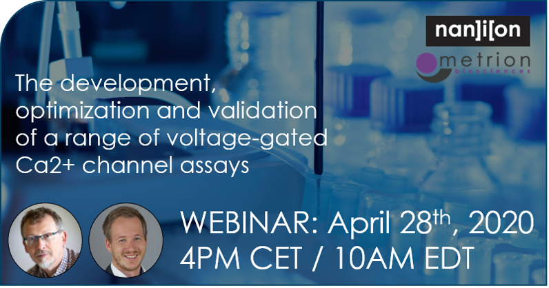 03.04.2020: Webinar announcement (April 28): Ca2+ channel assays
