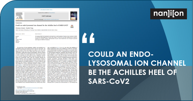 02.06.2020: Publication Alert - Could an Endo-Lysosomal Ion Channel be the Achilles Heel of SARS-CoV2?