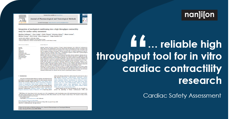 15.07.2020: Publication Alert - Integration of mechanical conditioning into a high throughput contractility assay for cardiac safety assessment