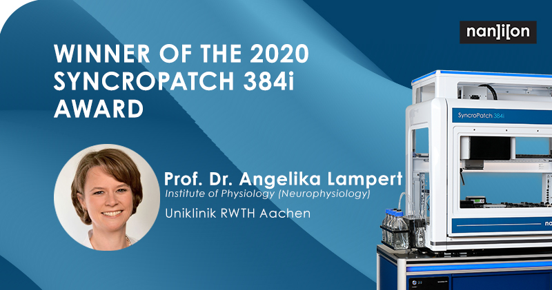 06.08.2020: Meet Angelika Lampert - Recipient of the 2020 SyncroPatch 384i Research Grant