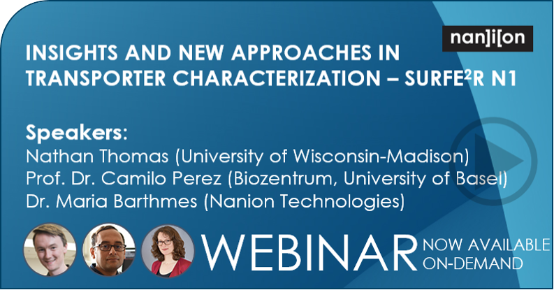 27.05.2020: Playback of the Transporter Characterization Webinar now available