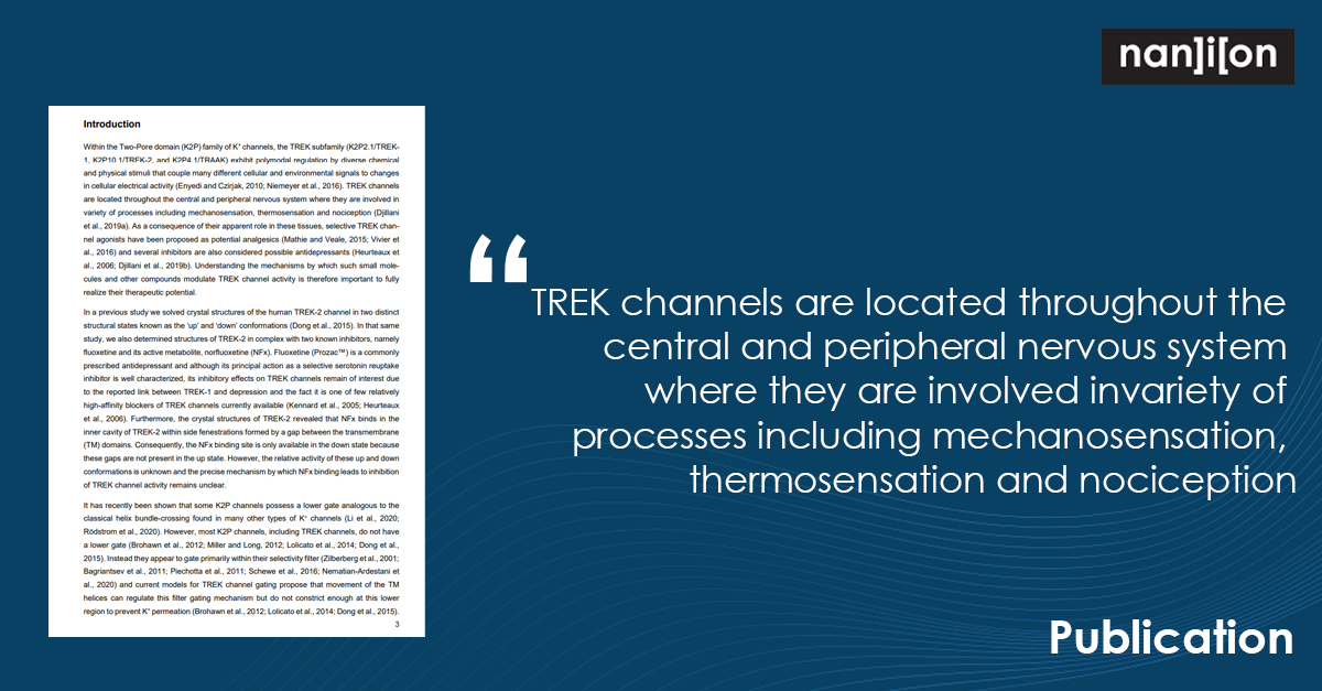 03.05.2021: Publication Alert - Multiple Mechanisms Underlie State-Independent Inhibitory Effects of Norfluoxetine on TREK-2 K2P Channels