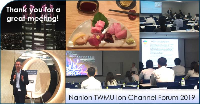 09.10.2019: Thank you to all the speakers and participants for a great ion channel forum in Tokyo